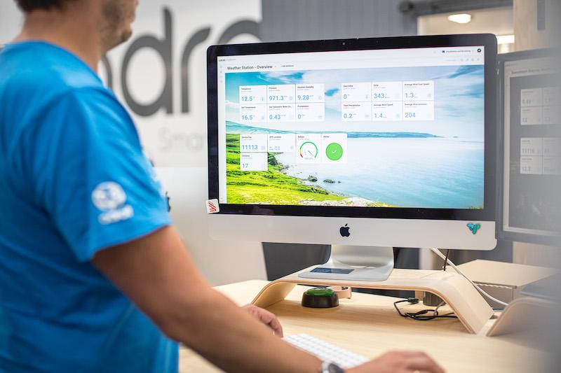 Water quality control platform dashboard